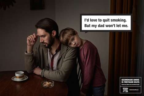 Child-Suppressing Smoking Ads - These Pictorial Anti-Smoking Ads Portray Children as Smokers