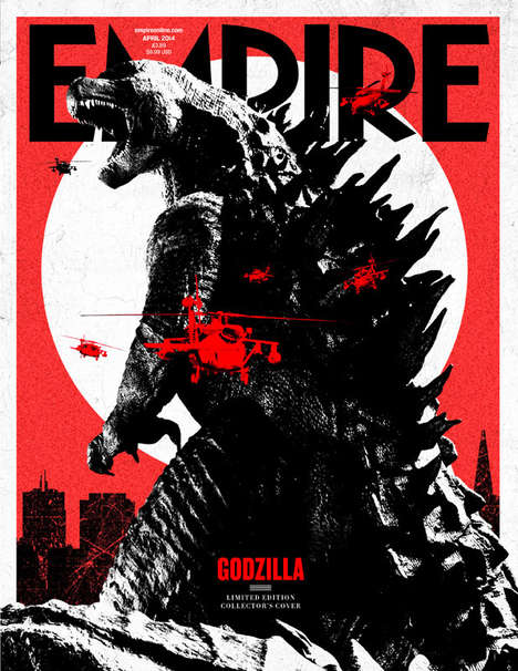 Famed Film Magazine Covers - Empire Magazine Shows off Its New Godzilla Cover
