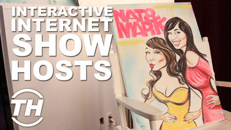Interactive Internet Show Hosts - Nat and Marie Talk About Their Sassy and Stunning Net Show