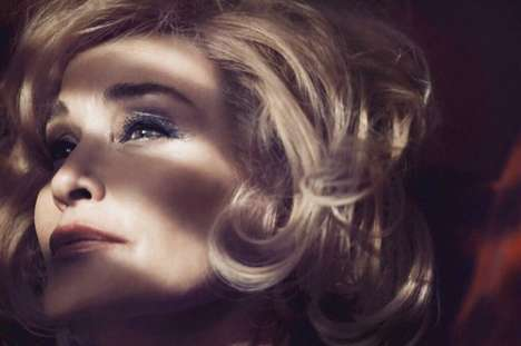 Pensive Mature Celeb Campaigns - The New Marc Jacobs Beauty Stars Actress Jessica Lange