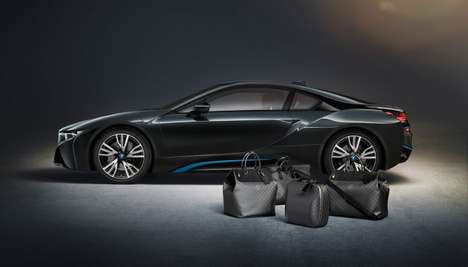 Vehicle Interior-Matching Luggage - The Louis Vuitton BMW i8 Travel Luggage Bags Match Perfectly