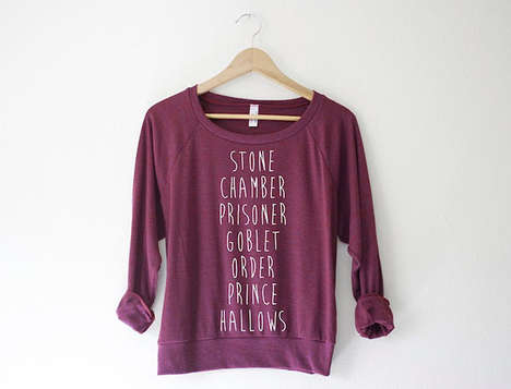 Subtle Fantasy Film Clothing - These Chic Harry Potter Pullovers Reference Each Film of Series