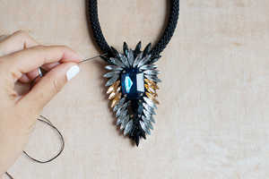 The DIY Crystal Flare Necklace is a Must-Have Wardrobe Piece
