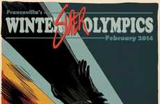 Superhero Winter Sports Comics