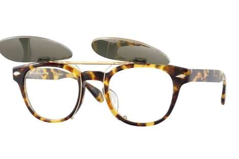 Retro Revival Eyewear - Maison Kitsune x Oliver Peoples Creates Elegant Hipster Sunglasses