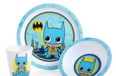 Infant Comic Hero Dishware - The DC Comic Dinnerware Sets Showcase Mini Versions of Iconic Heroes