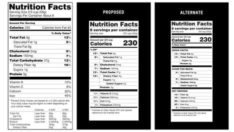 Realistic Revamped Food Labels - These New Nutrition Labels Pertain to the Realistic Consumer