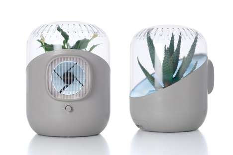 Plant-Powered Air Purifiers - The Andrea Air Purifier Uses Plants to Clean Your Surroundings
