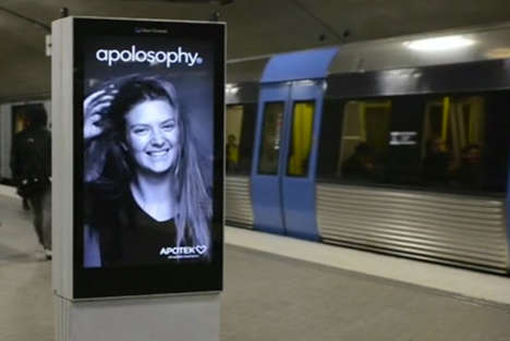 Interactive Hair-Blowing Subway Ads - This Interactive Ad Recognizes When Trains are Coming & Reacts