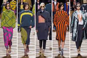 The Dries Van Noten Fall 2014 Collection is Trippy and Quirky