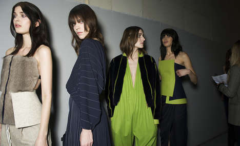 Fuzzy Tube Top Sartorials - The Vionnet Fall 2014 Collection Switches From Vests to Tube Tops