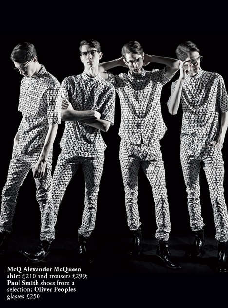 Retro Monochromatic Menswear - The Harrods Magazine March 2014 Shoot Features Vintage Black & White