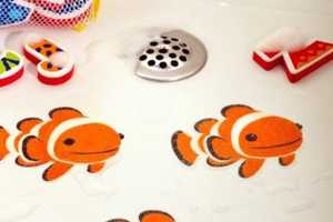 Make a Bath Fun for Kids with Colorful Stick-On Tub Tattoos