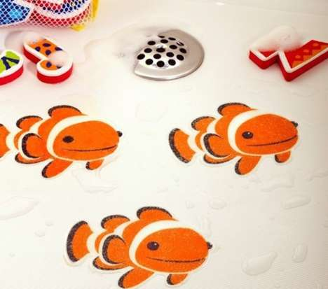 Playful Bathtime Tattoos - Make a Bath Fun for Kids with Colorful Stick-On Tub Tattoos