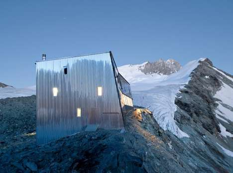 Mountainous Metallic Abodes - The Mountain House by Savioz Fabrizzi Architectes Naturally Blends In
