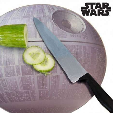 Destructive Sci-Fi Kitchenware - The Death Star Cutting Board is Ideal for Star Wars Fans Who Cook
