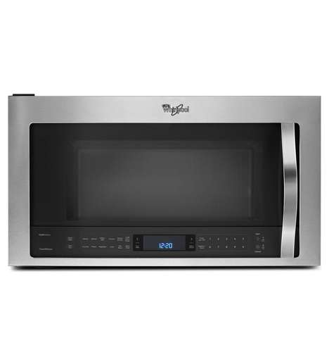 Sensor-Activated Microwaves - The Microwave Hood Combination Can Manually Adjust Cooking Time