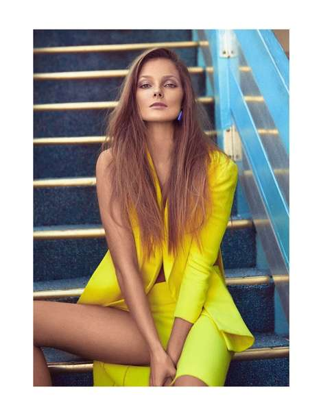 Urban Summer Fresh Editorials - The Vogue Mexico March 2014 Issue Stars Model Eniko Mihalik