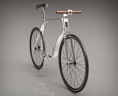 Lithe Aluminum Bikes - The KZS Cycle Embodies an Elegance with a Beautifully Bent Frame