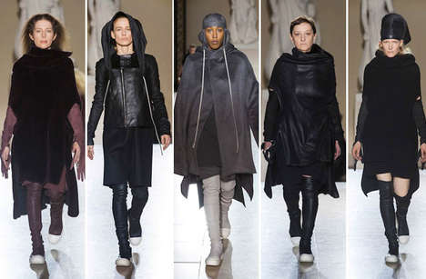 Refreshing Real Women Shows - Ricks Owens Uses Real Women for the Rick Owens Fall 2014 Runway Show