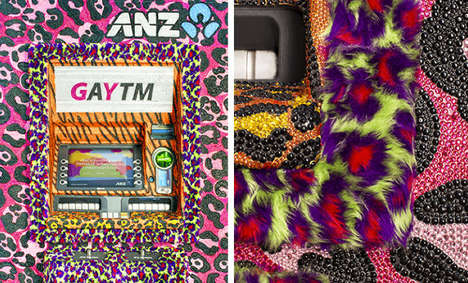 Snazzy LGBT-Supporting GAYTMs - A Bank Gives its ATMs a Makeover to Support the LGBT Community
