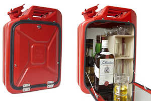 Store Your Finest Alcohol in the Jerry Can Bar Cabinet