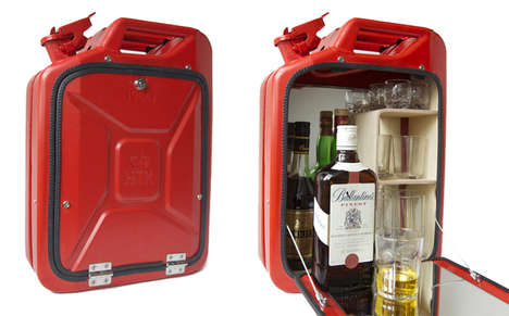 Gas Can Liquor Cabinets - Store Your Finest Alcohol in the Jerry Can Bar Cabinet