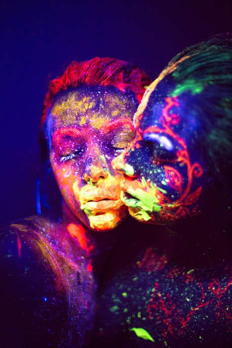 Cosmic Body Paint Photographs - Daria Khoroshavina Creates These Body Paint Photographs