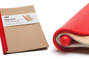 The Eco Clip is a Reusable Personal Notebook Binder