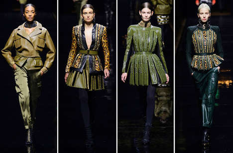 Tomboyish Glam Safari Collections - The Balmain Fall 2014 Runway Collection is Rihanna-Inspired