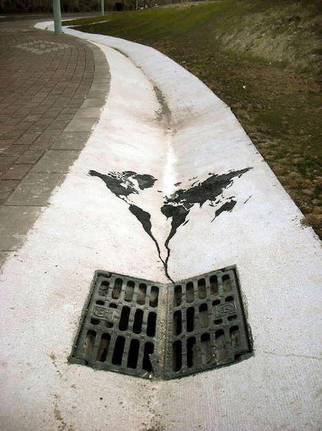 Shadow-Like Street Art (UPDATE) - Artist Pejac Deals with Subtractive Elements in His Public Work