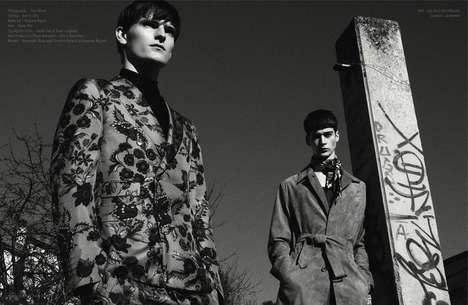 Busily-Printed Menswear Editorials - The Hunter Magazine Issue 24 Issue Stars Alexander and Corentin
