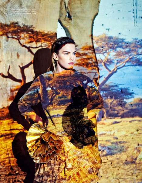Projected Print Background Editorials - Marique Schimmel is Surreal in Vogue Netherlands March 2014
