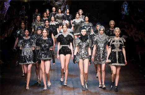 Jeweled Medieval Runway Collections - The Dolce & Gabbana Fall 2014 Collection is Dreamy and Lavish