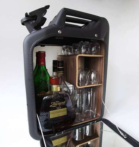 Gas Can Mobile Bars - These Jerry Cans Got Reworked into Bar Cabinets