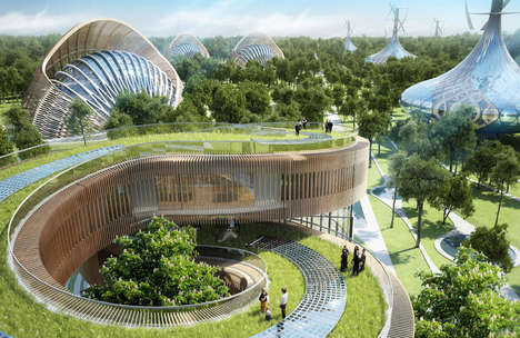 Expansive Spiraling Villa Landscapes - The New Flavours Orchard Features Innovative Architecture