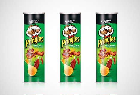Sriarcha-Flavored Iconic Chips - This New Spicy Snack Packs a Delicious and Mouthwatering Punch