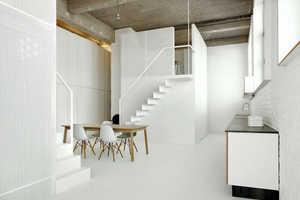 This White Minimalist Loft was Designed by  Adn Architectures