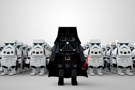 Paper Sci-Fi Playthings - Paper Toy Company Momot Has Created a Star Wars Toy Series