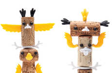 Corked Totem Crafts - The Monkey Business 'Corkers Totem Kit' Will Liven Up Dinner Parties