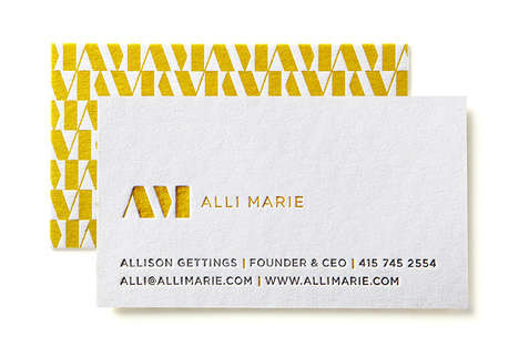 Monochrome Cubic Fashion Branding - Alli Marie's New Identity is Subtle, Chic and a Litte Retro