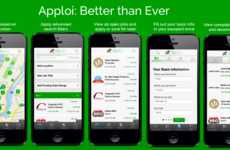Location-Finding Job Apps - The Apploi iOS App Can Help you Find a Job Closer to Your Home