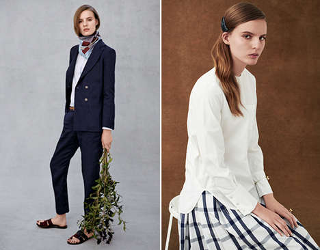 Effortless Glamourous Lookbooks - The New Trademark Line is Fresh and American Chic