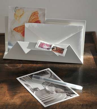 Stationery Storage Stands - A Letter Holder with Two Compartments Makes Stationery Storage Easy