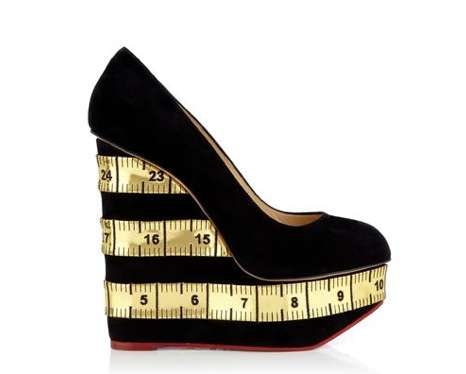 Measuring Tape-Printed Wedges - These Charlotte Olympia Wedges are Both Fun and Professional