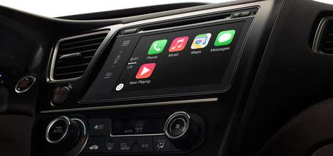 Smartphone-Connected Infotainment Systems - Apple CarPlay Lets you Take Control of the Vehicle