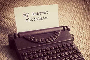 The Vintage Typewriter Chocolates Send the Sweetest Message