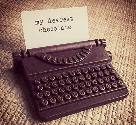 Edible Chocolate Typewriters - The Vintage Typewriter Chocolates Send the Sweetest Message