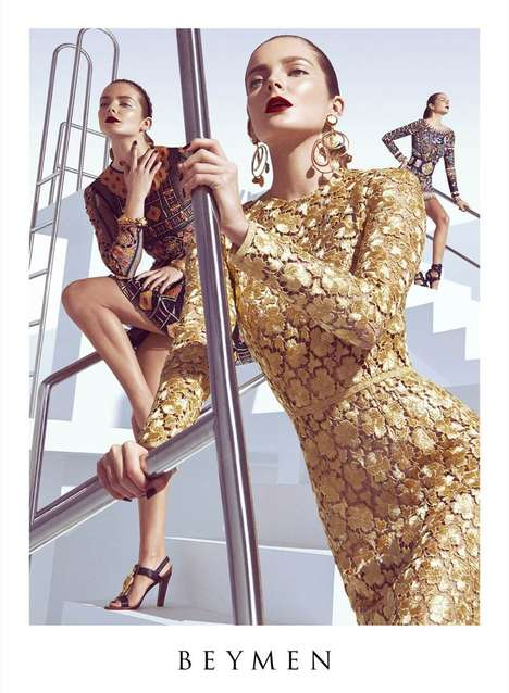 Shimmering Goddess Spring Campaigns - The Beymen Spring 2014 Campaign is Edgy and Classy