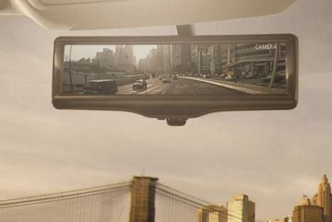 Video-Streaming Smart Mirrors - The Nissan Smart Rearview Mirror Gives a Better Perspective
